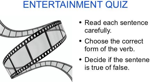 Bing Entertainment Quiz