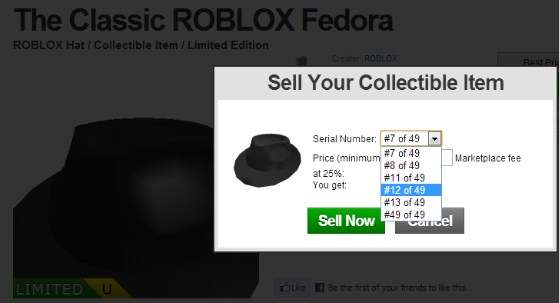Sell Stuff on Roblox